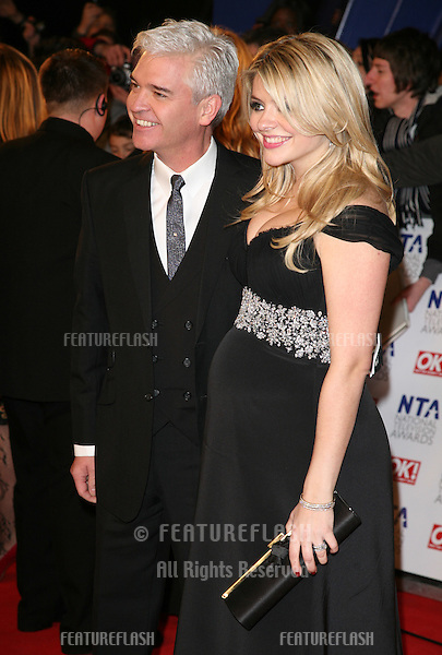 Phillip Schofield and Holly Willoughby arriving for the National Television Awards 2011, at the O2, London. 26/01/2011  Picture By: Alexandra Glen / Featureflash