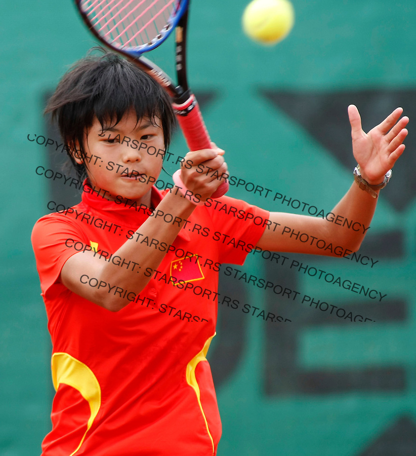 Tennis, world championship, U-14.China Vs. Uzbekistan.Xiao-Rong Dong (CHI)-Sabina Sharipova.Xiao-Rong Dong.Prostejov, 08.08.2008..Photo: Srdjan Stevanovic.