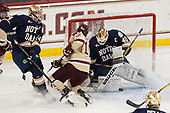 Luke Ripley (Notre Dame - 24), Christopher Brown (BC - 10), Cal Peterson (Notre Dame - 40) - The Boston College Eagles defeated the University of Notre Dame Fighting Irish 6-4 (EN) on Saturday, January 28, 2017, at Kelley Rink in Conte Forum in Chestnut Hill, Massachusetts.The Boston College Eagles defeated the University of Notre Dame Fighting Irish 6-4 (EN) on Saturday, January 28, 2017, at Kelley Rink in Conte Forum in Chestnut Hill, Massachusetts.