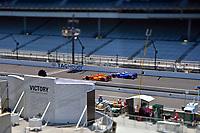 Verizon IndyCar Series<br /> Indianapolis 500 Practice<br /> Indianapolis Motor Speedway, Indianapolis, IN USA<br /> Tuesday 16 May 2017<br /> Fernando Alonso, McLaren-Honda-Andretti Honda and Takuma Sato, Andretti Autosport Honda<br /> World Copyright: F. Peirce Williams