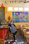 Chef and owner of the Hai'ilmaile General Store, Bev Gannon, at the famed restaurant on the island of Maui, Hawaii