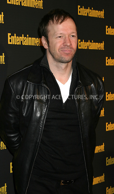 WWW.ACEPIXS.COM . . . . . ....NEW YORK, FEBRUARY 27, 2005....Donnie Wahlberg at Entertainment Weekly's Academy Awards party at Elaine's.....Please byline: ACE009 - ACE PICTURES.. . . . . . ..Ace Pictures, Inc:  ..Philip Vaughan (646) 769-0430..e-mail: info@acepixs.com..web: http://www.acepixs.com