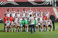 WM-Kader stellt sich zum Mannschaftsfoto auf - Abschusstraining Nationalmannschaft in Mainz