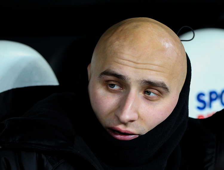Newcastle United's Jonjo Shelvey takes his place on the bench<br /> <br /> Photographer Alex Dodd/CameraSport<br /> <br /> Emirates FA Cup Third Round - Newcastle United v Blackburn Rovers - Saturday 5th January 2019 - St James' Park - Newcastle<br />  <br /> World Copyright © 2019 CameraSport. All rights reserved. 43 Linden Ave. Countesthorpe. Leicester. England. LE8 5PG - Tel: +44 (0) 116 277 4147 - admin@camerasport.com - www.camerasport.com