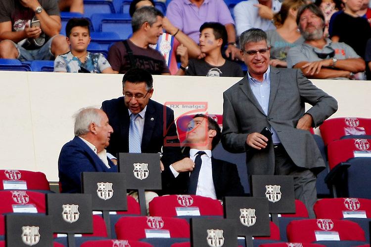 League Santander 2016/2017. Game: 1.<br /> FC Barcelona vs Real Betis: 6-2.<br /> Carles Rexach, Josep Maria Bartomeu, Robert Fernandez &amp; Jordi Mestre.