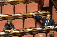 Roma, 2 Ottobre 2013<br /> Senato <br /> Silvio Berlusconi e Alessandra Mussolini durante il dibattito per la Fiducia
