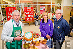 Jim O'Brien of O'Brien Cheese Ballyhar with Bernie and Brendan Slattery at the Taste of Kerry at Manor West, Tralee on Saturday