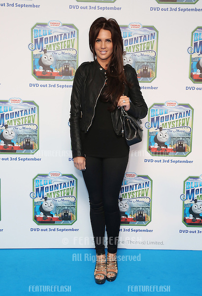 Danielle Lloyd arriving for Thomas & Friends Blue Mountain Mystery premiere held at the Vue cinema, London. 01/09/2012 Picture by: Henry Harris / Featureflash