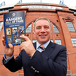 Ally McCoist with the Rangers Hall of Fame book