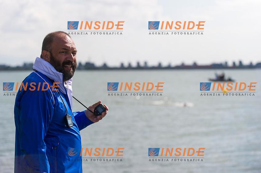 ARAOUZOU Kalliopi GRE coach<br /> Hoorn, Netherlands <br /> LEN 2016 European Open Water Swimming Championships <br /> Open Water Swimming<br /> Women's 5km<br /> Day 02 12-07-2016<br /> Photo Giorgio Perottino/Deepbluemedia/Insidefoto
