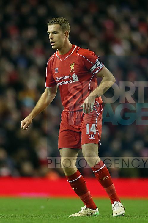 Jordan Henderson of Liverpool - Barclays Premier League - Liverpool vs Swansea City - Anfield Stadium - Liverpool - England - 29th December 2014  - Picture Simon Bellis/Sportimage