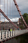 South Portland Street Suspension Bridge in Glasgow, Scotland