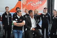 SCHAATSEN: HEERENVEEN: 23-09-2014, Perspresentatie Team Clafis, Trainer/Coach Jillert Anema, Directeur Clafis/Sponsor Bert Jonker, ©foto Martin de Jong