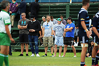 Hurricanes senior management watch the rugby match between Hurricanes development and Blues Development at Evan's Bay Park in Wellington, New Zealand on Wednesday, 17 March 2018. Photo: Dave Lintott / lintottphoto.co.nz