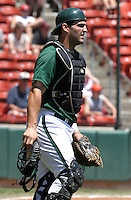 June 23, 2005:  Catcher Ryan Garko of the Buffalo Bisons during a game at Dunn Tire Park in Buffalo, NY.  Buffalo is the International League Triple-A affiliate of the Cleveland Indians.  Photo by:  Mike Janes/Four Seam Images