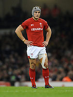 Wales' Jonathan Davies during the game<br /> <br /> Photographer Ian Cook/CameraSport<br /> <br /> Under Armour Series Autumn Internationals - Wales v Scotland - Saturday 3rd November 2018 - Principality Stadium - Cardiff<br /> <br /> World Copyright © 2018 CameraSport. All rights reserved. 43 Linden Ave. Countesthorpe. Leicester. England. LE8 5PG - Tel: +44 (0) 116 277 4147 - admin@camerasport.com - www.camerasport.com