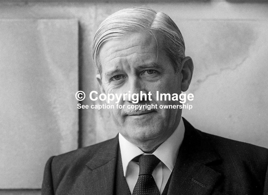Reggie Magee, Ulster Unionist, member, N Ireland Assembly, South Belfast, October, 1973, 19731000065RM<br />