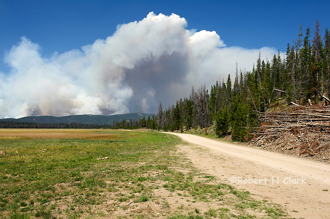 Halstead fire near Stanley Idaho on 7-31-12