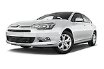 Low aggressive front three quarter view of a 2010 Citroen C5 Confort 4 Door Sedan 2WD