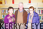 Pictured at the launch of the book 'Focail agus Foclóireacht: T O'Neill Lane' by Seaghan Mac an tSionnaigh in Abbeyfeale Library on Thursday night were L-R: Noreen Lemasney, Michael Lane and Betty O'Reily, Templeglantine. The book is a biography and a critique of O'Neill Lane's work as a lexicographer.