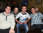 Eoin Fox, Jim Jones, Greg Smith and Bryan Fontana pictured at the St Feckins race night in the waterside Inn. Photo: Colin Bell/pressphotos.ie