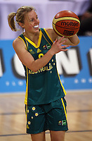Opals guard Samantha Richards during the International women's basketball match between NZ Tall Ferns and Australian Opals at Te Rauparaha Stadium, Porirua, Wellington, New Zealand on Monday 31 August 2009. Photo: Dave Lintott / lintottphoto.co.nz