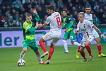 10.02.2019, Weser Stadion, Bremen, GER, 1.FBL, Werder Bremen vs FC Augsburg, <br /> <br /> DFL REGULATIONS PROHIBIT ANY USE OF PHOTOGRAPHS AS IMAGE SEQUENCES AND/OR QUASI-VIDEO.<br /> <br />  im Bild<br /> Rani Khedira (FC Augsburg #08)<br /> Johannes Eggestein (Werder Bremen #24)<br /> <br /> <br /> Foto © nordphoto / Kokenge