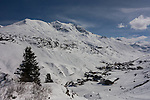 View of Hexenboden Chairlift at Zurs Ski Area, Austria,