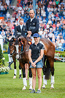 NZL-Tim Price rides Wesko during the SAP Cup - CICO4*-S Nations Cup Eventing Prizegiving. 2019 GER-CHIO Aachen Weltfest des Pferdesports. Saturday 20 July. Copyright Photo: Libby Law Photography