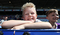 Bolton Wanderers Fans at the start of todays match<br /> <br /> Photographer Rachel Holborn/CameraSport<br /> <br /> The EFL Sky Bet Championship - Bolton Wanderers v Nottingham Forest - Sunday 6th May 2018 - Macron Stadium - Bolton<br /> <br /> World Copyright &copy; 2018 CameraSport. All rights reserved. 43 Linden Ave. Countesthorpe. Leicester. England. LE8 5PG - Tel: +44 (0) 116 277 4147 - admin@camerasport.com - www.camerasport.com