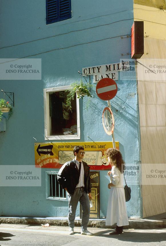 - Gibraltar, a street of historical downtown<br /> <br /> - Gibilterra, una via del centro storico