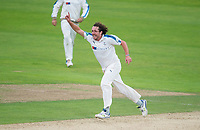 Picture by Allan McKenzie/SWpix.com - 07/09/2017 - Cricket - Specsavers County Championship - Yorkshire County Cricket Club v Middlesex County Cricket Club - Headingley Cricket Ground, Leeds, England - Yorkshire's Ryan Sidebottom celebrates dismissing Middlesex's Sam Robson.