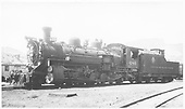 3/4 front fireman side view of K-36 #486 parked in yard.<br /> D&amp;RGW