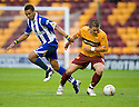 :: MOTHERWELL'S SHAUN HUTCHINSON GETS AWAY FROM WILLY AUBAMEYANG  ::.11/05/2011 sct_jsp016_motherwell_v_kilmarnock     .Copyright  Pic : James Stewart.James Stewart Photography 19 Carronlea Drive, Falkirk. FK2 8DN      Vat Reg No. 607 6932 25.Telephone      : +44 (0)1324 570291 .Mobile              : +44 (0)7721 416997.E-mail  :  jim@jspa.co.uk.If you require further information then contact Jim Stewart on any of the numbers above.........