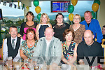 BIRTHDAY TREAT: Bobby Miller, Tralee (seated centre) was treated to a fab evening at Tralee Greyhound Stadium last Saturday night by his family for his birthday, seated l-r: Gerry Curtin, Maura and Bobby Miller, Ann Curtin and Robert Miller. Back l-r: Aileen and Cathy Miller, Roslyn Kelly, Aileen West Miller and Joe O'Connor.
