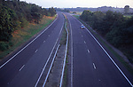 AYBR4A Dual carriageway without traffic at dusk