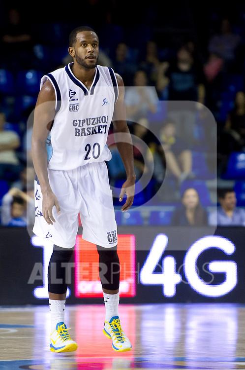 Gipuzkoa Basket Club's Jason Robinson during Liga Endesa ACB 2013-2014 match against FC Barcelona. November 3, 2013. (ALTERPHOTOS/Alex Caparros)
