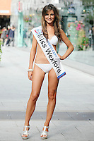 17/9/2010. Miss Ireland contestants. Miss Wexford Laura Scanlon is pictured at St Stephens Green. the 35 Miss Ireland contestants officially unveiled in their swimwear and sashes for the 1st time at Stephen's Green Shopping Centre,  Dublin. Picture James Horan/Collins Photos