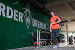 01.09.2019, wohninvest WESERSTADION, Bremen, GER, 1.FBL, Werder Bremen vs FC Augsburg<br /> <br /> DFL REGULATIONS PROHIBIT ANY USE OF PHOTOGRAPHS AS IMAGE SEQUENCES AND/OR QUASI-VIDEO.<br /> <br /> im Bild / picture shows<br /> Michael Gregoritsch (FC Augsburg #11) bei Ankunft am Weserstadion, <br /> <br /> Foto © nordphoto / Ewert