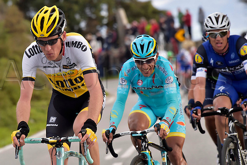 18.02.2016. Lagoa, Algarvem Portugal. Tour of the Algarve, Cycling Tour. Stage 2 Lagoa to Alto Da Foia.  GESINK Robert (NED)  of TEAM LOTTO NL - JUMBO in action