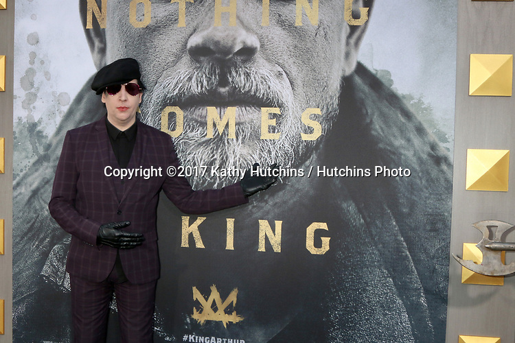"""LOS ANGELES - MAY 8:  Marilyn Manson at the """"King Arthur Legend of the Sword"""" World Premiere on the TCL Chinese Theater IMAX on May 8, 2017 in Los Angeles, CA"""