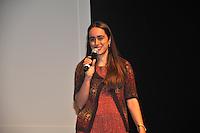 SAO PAULO, SP, 24 DE JULHO 2012 – Ana Paula, representante do BNDES participa de Festival Anima Mundi em sessao de abertura para convidados no Memorial da America Latina, zona oeste de Sao Paulo, nesta noite de terca-feira. O festival internacional de animacao esta em sua 20ª edicao no pais e fica do dia 25 a 29 de julho. (FOTO: THAIS RIBEIRO / BRAZIL PHOTO PRESS).