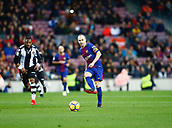 7th January 2018, Camp Nou, Barcelona, Spain; La Liga football, Barcelona versus Levante; Iniesta from FC Barcelona passing the ball through midfield
