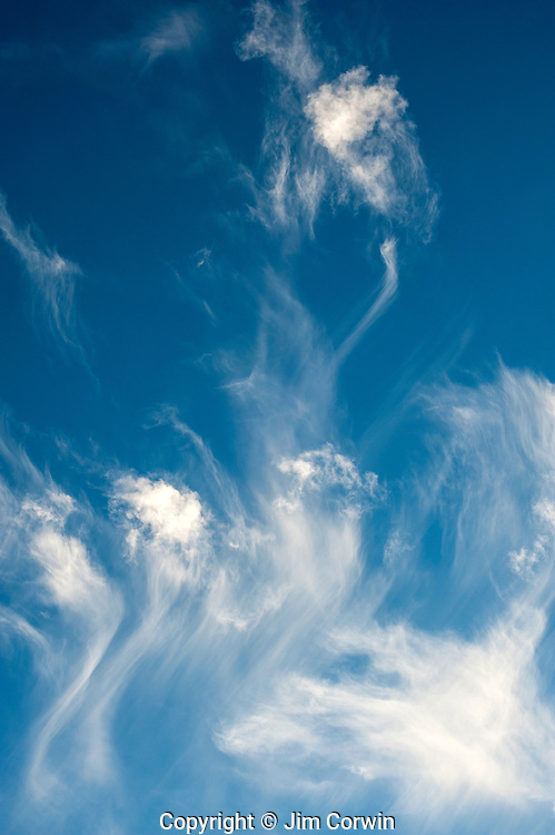 Cirrus clouds, cirrus fibratus fair weather, with cirrus uncinus,