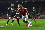 Nathaniel Clyne of Liverpool fouls Anthony Martial of Manchester United to give away a penalty for the opening goal during the UEFA Europa League match at Old Trafford. Photo credit should read: Philip Oldham/Sportimage