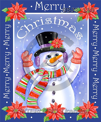 Janet, CHRISTMAS SANTA, SNOWMAN, paintings, Merry Christmas(USJS110,#X#) Weihnachtsmänner, Schneemänner, Weihnachen, Papá Noel, muñecos de nieve, Navidad, illustrations, pinturas
