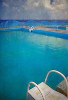 Havana Cuba Swimming Pool Steps, Caribbean Ocean
