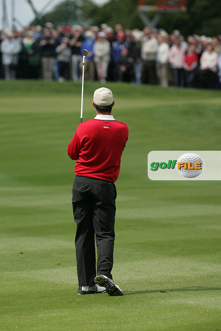 Padraig Harrington takes his 2nd shot on the 8th hole during the final round of the Irish Open on 20th of May 2007 at the Adare Manor Hotel & Golf Resort, Co. Limerick, Ireland. (Photo by Eoin Clarke/NEWSFILE).