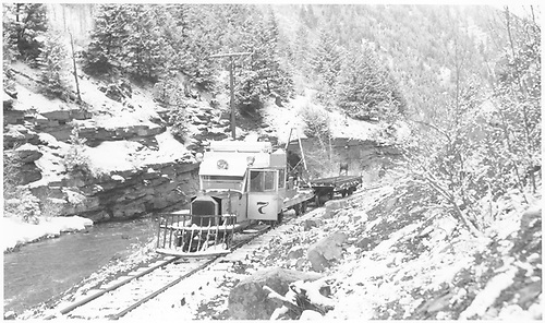 RGS Goose #7 stripped for use in dismantling operations near Fall Creek.<br /> RGS  near Fall Creek, CO  Taken by Richardson, Robert W. - 1953