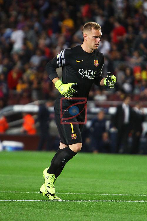 League BBVA 2015/2016 - Game: 4.<br /> FC Barcelona vs Levante UD: 4-1.<br /> Ter Stegen.